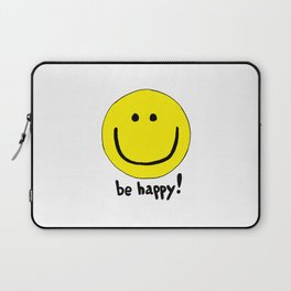 Be Happy Smiley Face Laptop Sleeve
