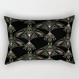 """Art Deco """"Emeralds """" Rectangular Pillow"""