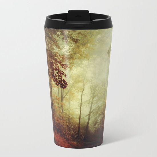 That's not my way - misty woodland Metal Travel Mug
