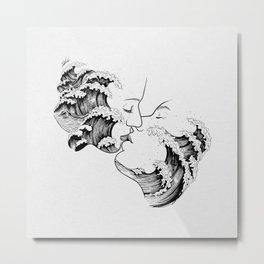wavy kiss. Metal Print