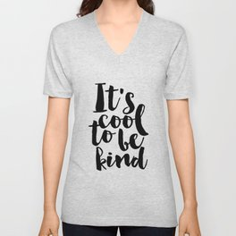 Be kind Be Brave Kids Gift Nursery Print Nursery Wall Art Children Print Typography Print Unisex V-Neck