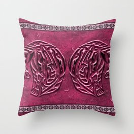 African elephant with ethnic motives V5 V WH Throw Pillow