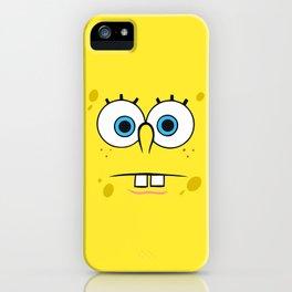 Spongebob Surprised Face iPhone Case