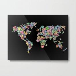 Diamonds World Map #2 Metal Print