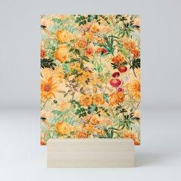Vintage & Shabby Chic -  Sunny Gold Botanical Flowers Summer Day Mini Art Print