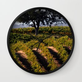 Paso Robles Vineyard Wall Clock
