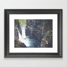 Vancouver Island Waterfall Framed Art Print