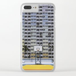 Hong Kong Basketball Clear iPhone Case
