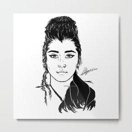 Lauren Jauregui/Mulan Original Design Digital Painting Metal Print