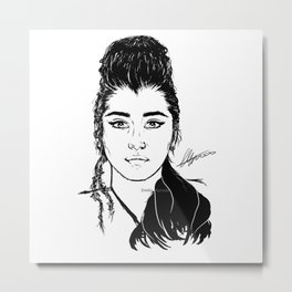 Lauren Jauregui/Mulan Original Design Digital Painting Metal Print