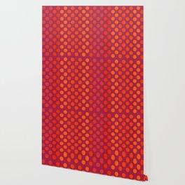 """""""Warm Burlap Texture & Polka Dots"""" Wallpaper"""