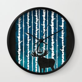 King Of The Forest Wall Clock