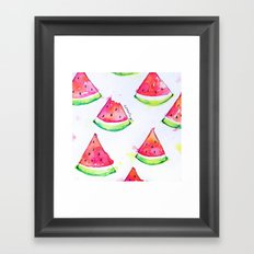 Watermelon Watercolor Print  Framed Art Print