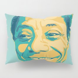 James Baldwin Portrait Teal Gold Blue Pillow Sham