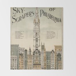 Vintage poster - Philadelphia Throw Blanket