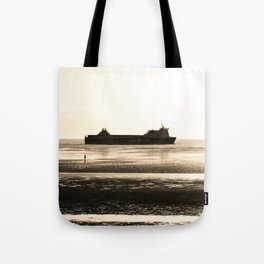Watching the ships go by Tote Bag