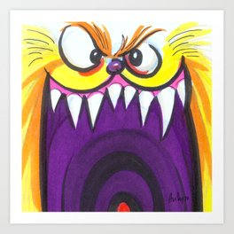 Mood Monster-Fuzzy Art Print