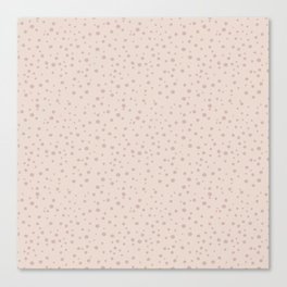 PolkaDots-Rose on Peach Canvas Print