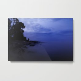 When the night falls - Blue hour at the Sea Landscape at Night #Society6 Metal Print