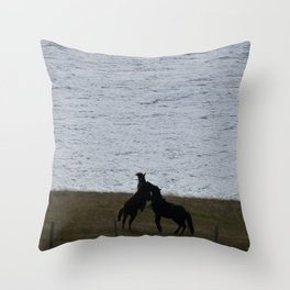 Majestic Horses Throw Pillow