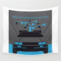 mcfly Wall Tapestries featuring No183 My Back to the Future minimal movie poster-part II by Chungkong