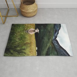 Sheep on a Hill Rug
