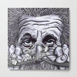 Einstein: The Patent Clerk Metal Print