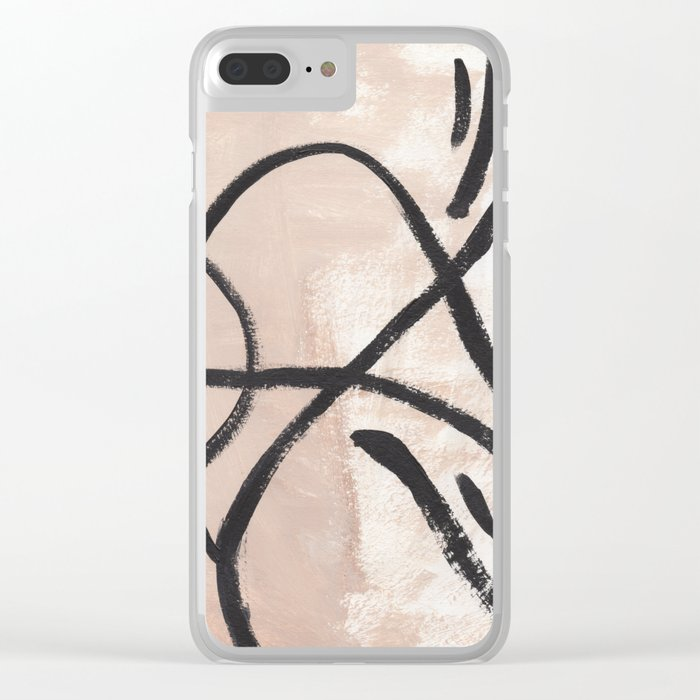 Tan Lines Clear iPhone Case