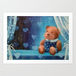 My teddy bear Art Print