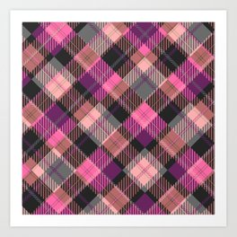 Candy's Handmade Plaid Texture 3 Art Print