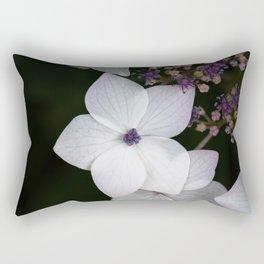 Purple and Blue Hydrangea Rectangular Pillow