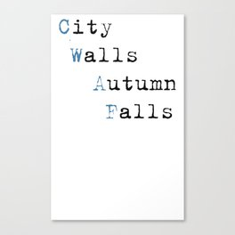 City Walls Autumn Falls Baby Onsie Canvas Print