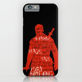 Walking Shadow - Macbeth iPhone Case