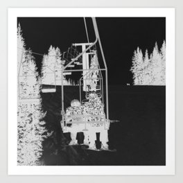 Inverted Ski Lift Art Print