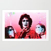 rocky horror picture show Art Prints featuring The Rocky Horror Picture Show - Pop Art by William Cuccio aka WCSmack