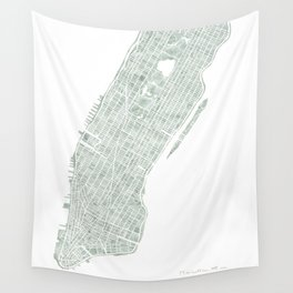 map manhattan nyc watercolor map wall tapestry