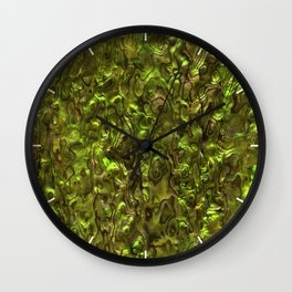 Abalone Shell   Paua Shell   Yellow Tint Wall Clock