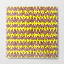 Bats Pattern Metal Print