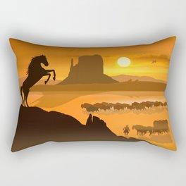 Freedom for the black stallion Rectangular Pillow