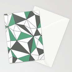Geo - green, gray and white. Stationery Cards