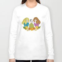 60s Long Sleeve T-shirts featuring 60s girls by Bunny Miele