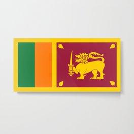Flag of sri Lanka -ceylon,India, Asia,Sinhalese, Tamil,Pali,Buddhist,hindouist,Colombo,Moratuwa,tea Metal Print