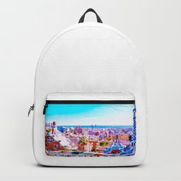 Park Guell Watercolor painting Backpack