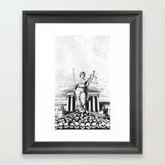 The Skulls of Justice B&W Framed Art Print