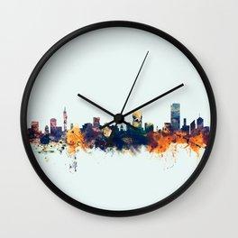 Pretoria South Africa Skyline Wall Clock
