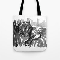 hercules Tote Bags featuring Hercules 2 by Jenn Steffey