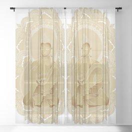 Gold buddha Sheer Curtain