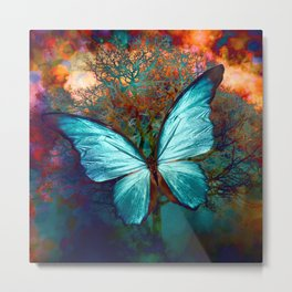 The Blue butterfly Metal Print