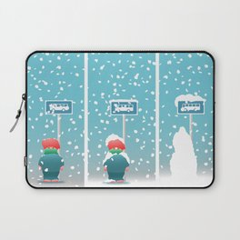 Waiting In The Snow Laptop Sleeve