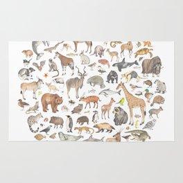 100 animals Rug